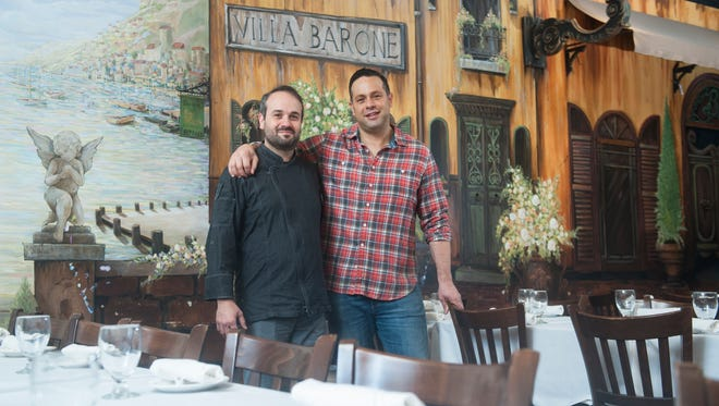 The Barone brothers -- Giovanni (left) and Vincenzo -- might run three South Jersey restaurants, but their mom still doesn't let them help in the kitchen.