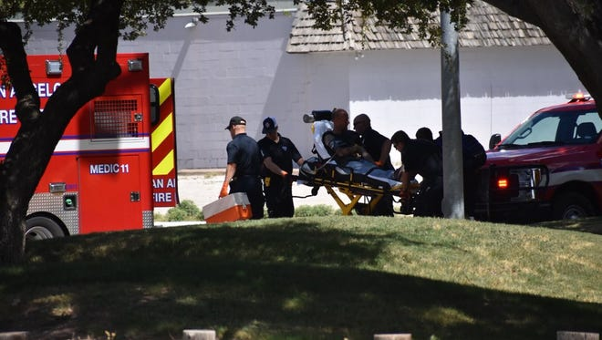 A man who said he had been stabbed was taken by ambulance from Martin Luther King Jr. Memorial Park in north San Angelo on Aug. 6, 2018.