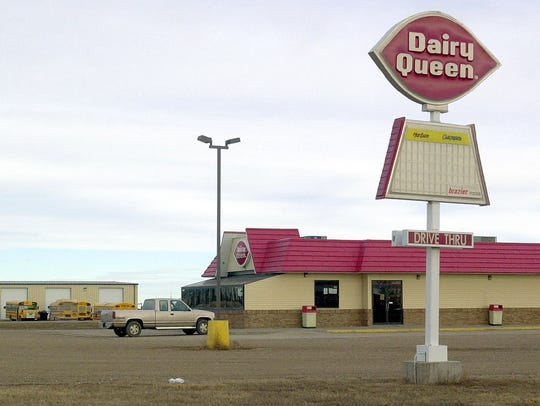 The Miller Dairy Queen, on the north edge of town,