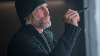 Woody Harrelson portrays Haymitch Abernathy in 'The Hunger Games: Mockingjay — Part 1.'