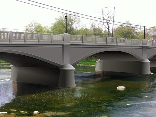 This rendering shows how the over 80-year old bridge
