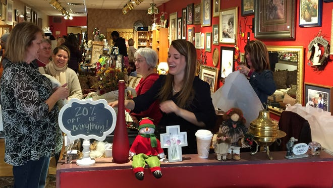 Shoppers filled the Black-Eyed Susan Home Expressions store during Small Business Saturday in 2014.