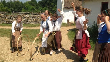Activities at the Frontier Folkways Festival include demonstrations on all of the museum's Old World and American exhibits.
