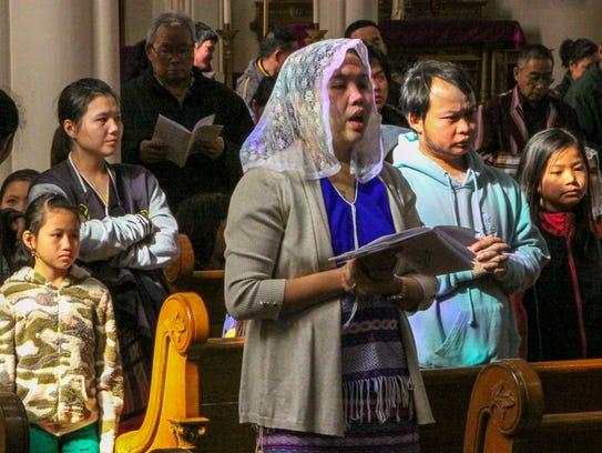 Sunday Mass at St. Michael's church, 1445 N 24th St,