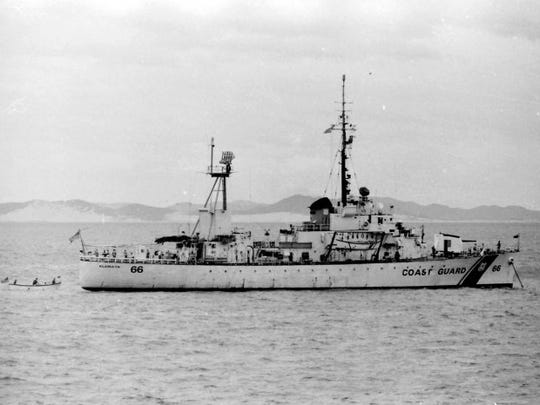 Sister ship USCGC Klamath at anchor, Qui Nhon, Vietnam.