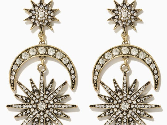 Can you say statement? Half moon and starburst earrings