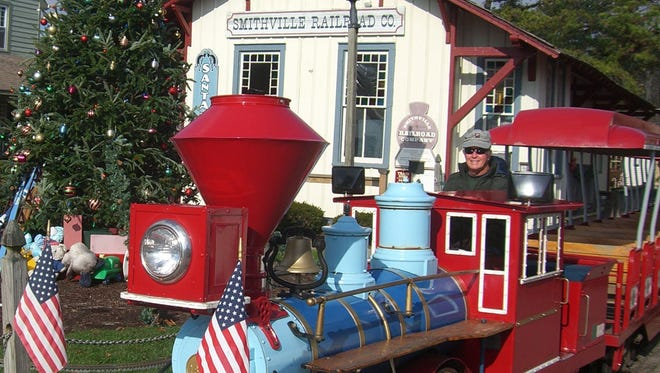 During December, Smithville in Atlantic County transforms into an ideal holiday setting each weekend.