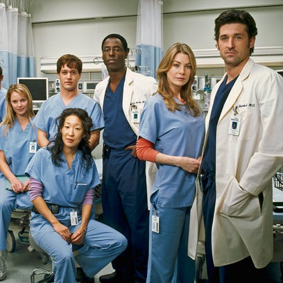 "The original cast of ""Grey's Anatomy."""