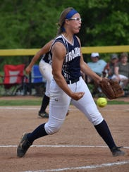 Chambersburg's Sammie Bender throws a pitch during