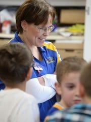 Principal Renee Lakes watches Western Wayne Elementary