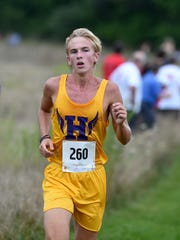 Hagerstown's Mason Bledsoe runs in the Richmond Cross