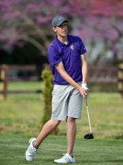 Hagerstown's Kyle Cochran tees off in the annual Bob