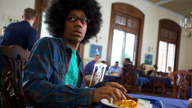 """Tyler James Williams appears in a scene from the movie """"Dear White People."""""""