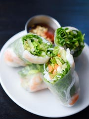 Summer rolls with Vui's peanut sauce at Vui's Kitchen.
