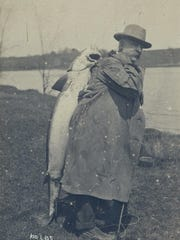 A giant sturgeon pulled from the Missisquoi River in