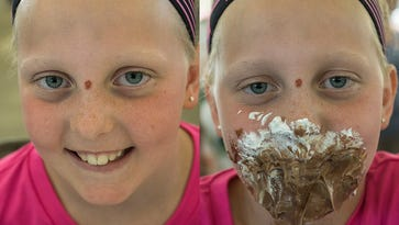 Dig in! Dozens compete in annual Spree pie-eating contest