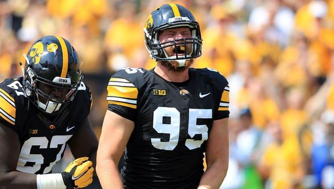 Drew Ott gave himself a poor grade in Iowa's opener.
