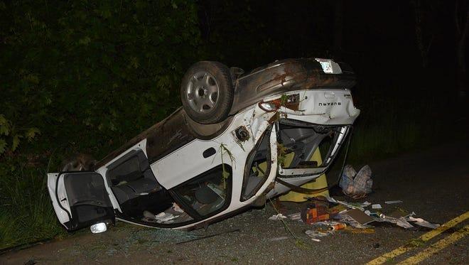 Rollover crash in the 12000 block of SW Gilbert Creek Road.