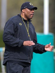 Oregon defensive coordinator Don Pellum was with the