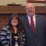 State librarian and archivist Chuck Sherrill recently visited the Cheatham County Public Library and its director May Lingner (left) to discuss the new TV White Space project. Cheatham County historian Lisa Walker was also in attendance.