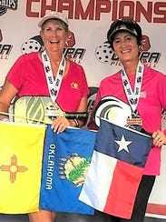 Vicky Noakes and Sherril Kerr won bronze in doubles.