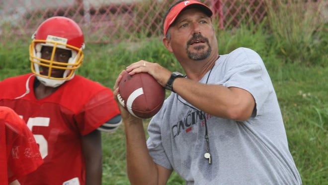 North College Hill head coach Bruce Baarendse in 2008.