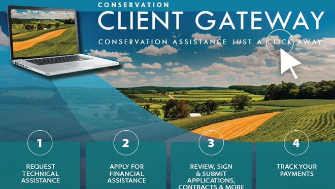 Farmers, and private landowners can now do business with USDA's Natural Resources Conservation Service (NRCS) through an easily accessible online portal. Conservation Client Gateway gives producer and entities the ability to work with conservation planners online to access Farm Bill programs, request assistance, and track payments for their conservation activities.
