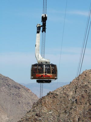 The Palm Springs Aerial Tramway is a quick way to escape the desert heat.