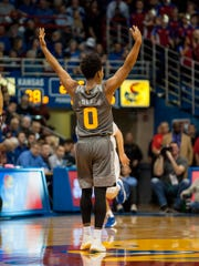 ASU guard Tra Holder celebrates late in Sunday's win