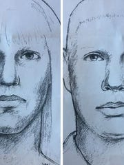 The Ingham County Sheriff's Office released two sketches