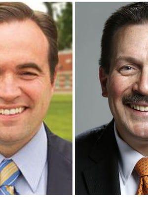 Mayor John Cranley, left, and Hamilton County Commissioner Todd Portune, right