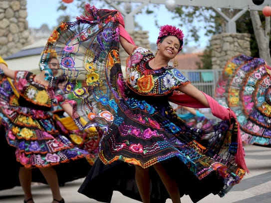 Lidia Rosales dances with the Ballet Folklorico Mestizo of Oxnard College during a past Dia de los Muertos celebration at the Museum of Ventura County. This year's celebration will take place from 11 a.m. to 4 p.m. Nov. 5at the museum, 100 E. Main St.