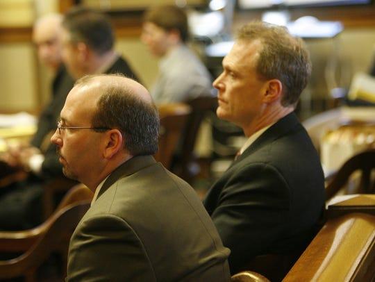 Lead investigators, Calumet County Sgt. Mark Wiegert