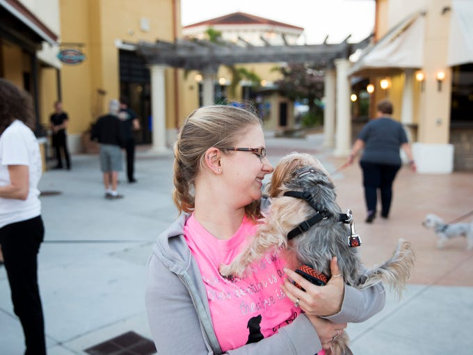 Nicole Vigorita, a volunteer with Senior Paws Sanctuary,