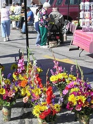 Fresh flowers, produce and many other items await shoppers