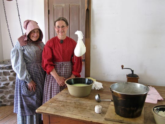 Besides making butter and ice cream at Dairy Days, Wade House staff will demonstrate the craft of cheese making following a detailed recipe of Miss Catharine Beecher, a 19th century pioneer educator and home economist.