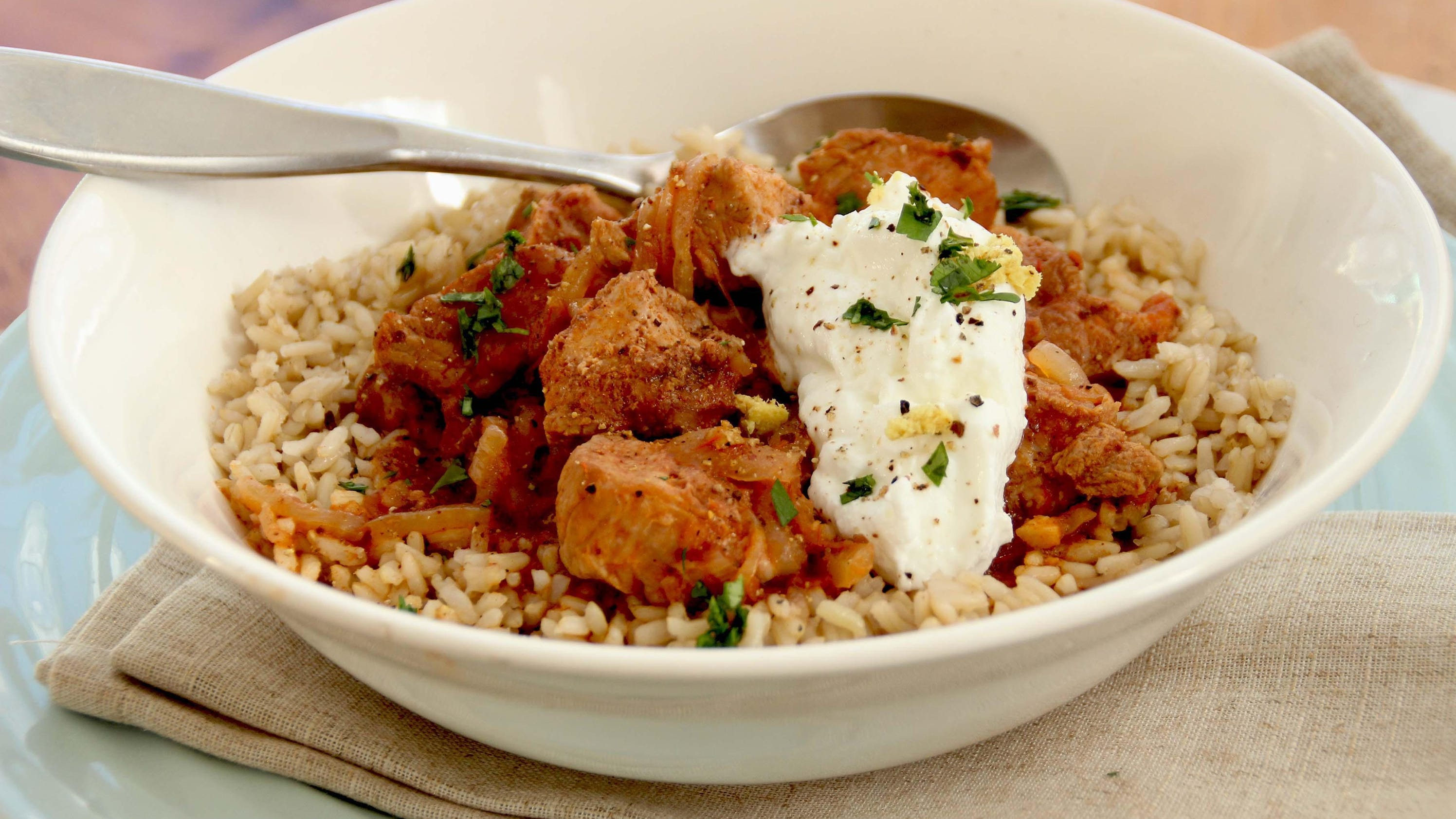 Slow cooker great for pork vindaloo Indian flavors