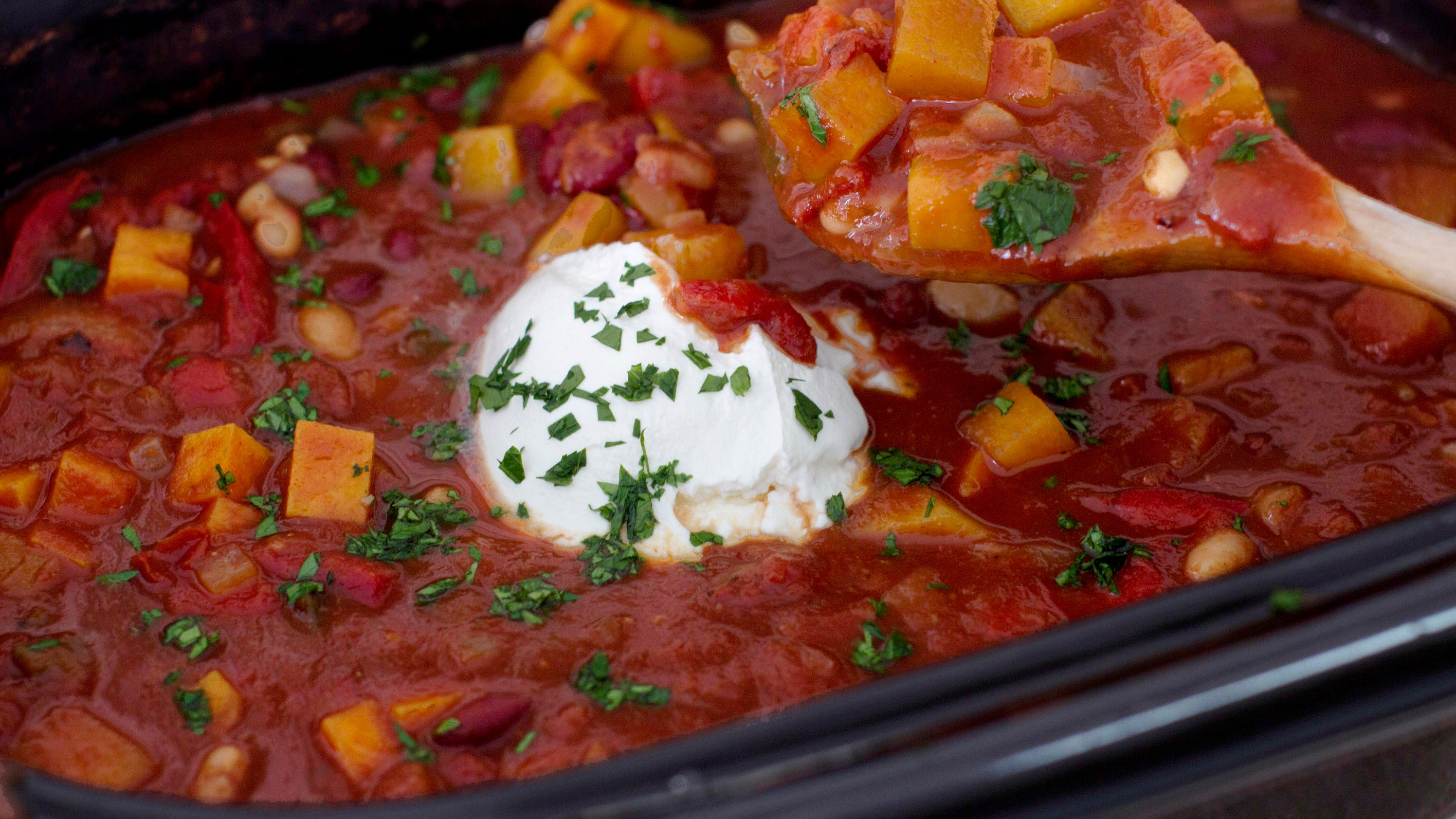 Slow Cooker Vegetarian Chili Food Network