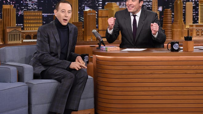 Paul Reubens and Jimmy Fallon 'The Tonight Show' on Oct. 29.