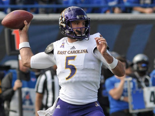 Gardner Minshew, a graduate transfer from East Carolina,