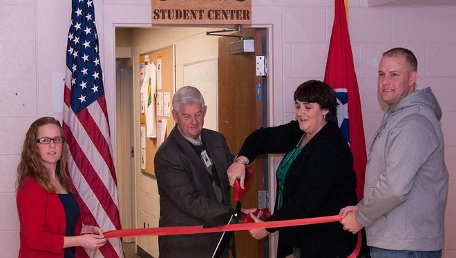A ribbon-cutting ceremony was held Wednesday for the Military Student Center at Jackson State Community College.