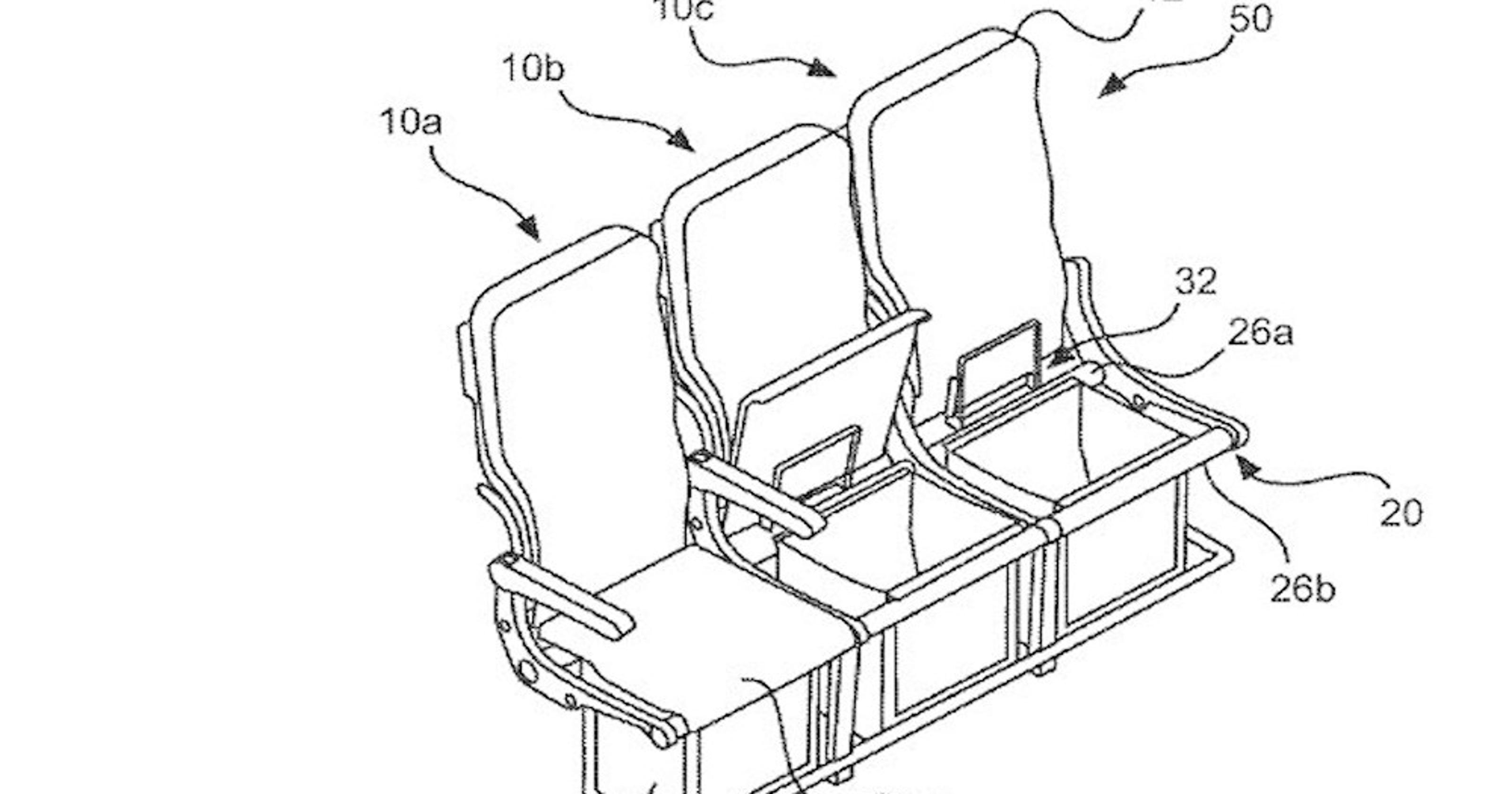 Airbus files patent to put more storage under seats (but