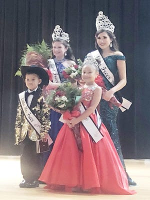 The 2020 Royalty are (bottom row LtoR) Little Mister Victor Espinoza and Little Miss Freer Raena Gonzalez; (top row LtoR) Jr. Miss Freer Madison McQuagge and Miss Freer Emma Cantu.