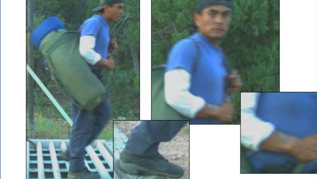 Updated pictures of the man wanted in connection with the arson and shooting in the Forest Lakes area on July 4, 2017.