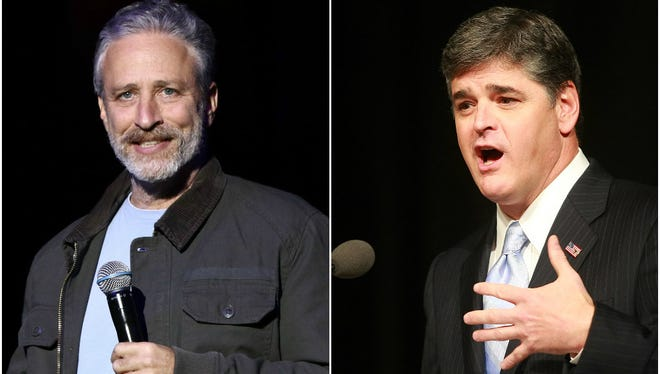 After Jon Stewart calls out Sean Hannity on 'The Late Show,' Hannity fires back.