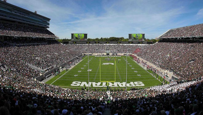 A view of Spartan Stadium.