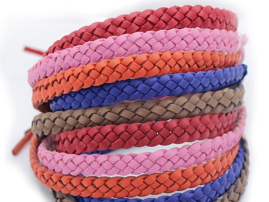 10-pack of all-natural leather mosquito repellent bracelets