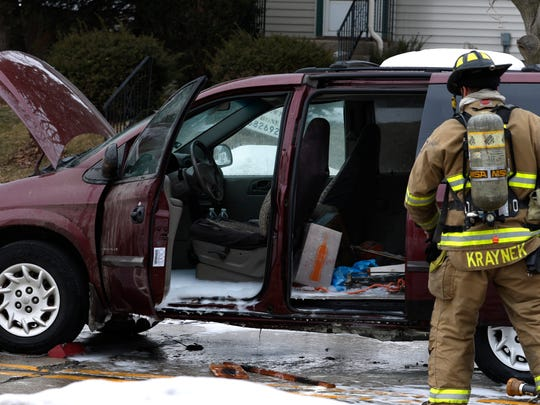 Manitowoc Fire Department fire fighters investigate