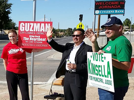 """William """"Bill"""" Kinsella, right, candidate for Las Cruces"""