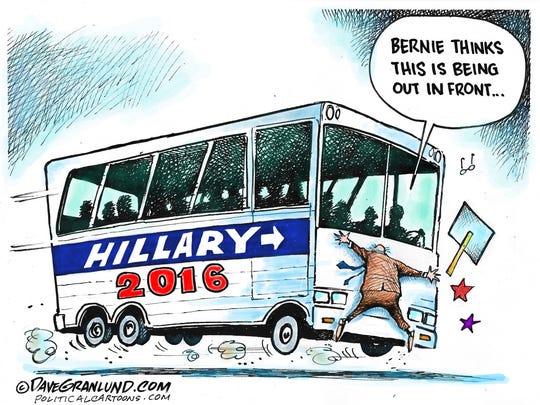 The Hillary bus and Bernie's momentum.
